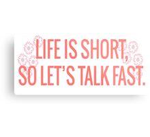 Gilmore Girls-Talk Fast Metal Print
