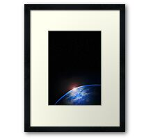 Outer Space Planet Framed Print