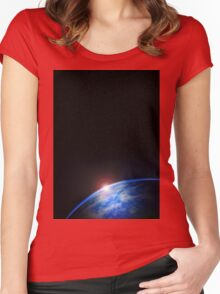 Outer Space Planet Women's Fitted Scoop T-Shirt