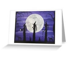 Three Tall Witches (Purple) Greeting Card