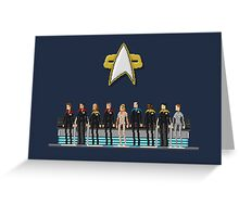 Star Trek: Voyager - Pixelart crew Greeting Card
