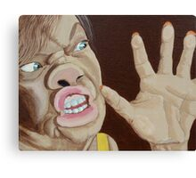 Trapped-self portrait Canvas Print