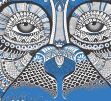 Blue art monkey face Sticker