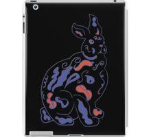 Psychedelic rabbit on black iPad Case/Skin