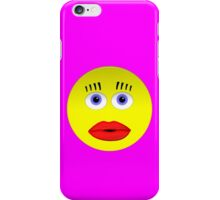 Smiley Female With Big Lips iPhone Case/Skin