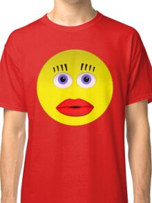 Smiley Female With Big Lips Classic T-Shirt