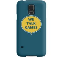 We Talk Games Official Logo (punched) Samsung Galaxy Case/Skin