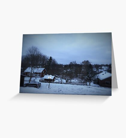 Casual Winter in Sweden Greeting Card