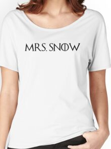 MRS. Snow Women's Relaxed Fit T-Shirt
