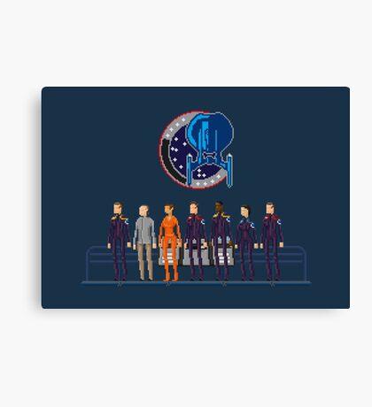Star Trek: Enterprise - Pixelart crew Canvas Print