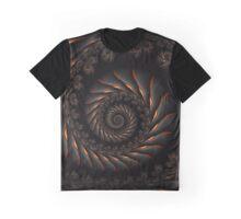 Black Spiral Fractal Graphic T-Shirt