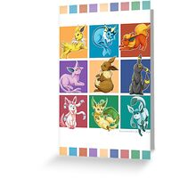 Eeveelutions Greeting Card