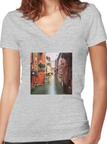 Secret Canal Women's Fitted V-Neck T-Shirt