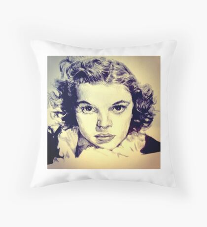Judy Garland Portrait Throw Pillow