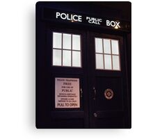 Doctor Who TARDIS Doors - Police Box Canvas Print