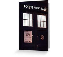 Doctor Who TARDIS Doors - Police Box Greeting Card