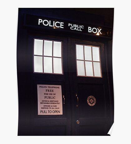 Doctor Who TARDIS Doors - Police Box Poster