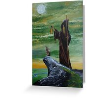 Hermit (Green) Greeting Card