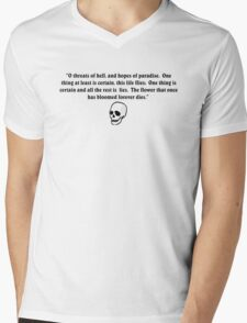 Omar Khayyam, Oh threats of Hell and Hopes of Paradise Mens V-Neck T-Shirt