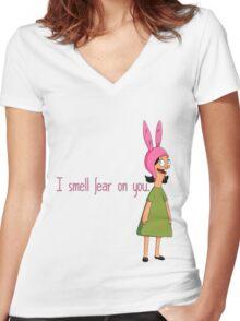 Louise Belcher Women's Fitted V-Neck T-Shirt