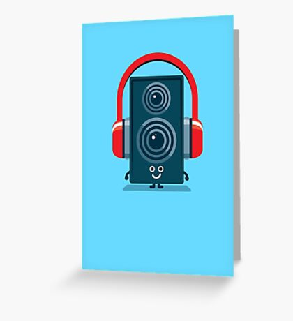 Character Building - Music Fan Greeting Card