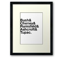 Ironic George Bush Cabinet Framed Print
