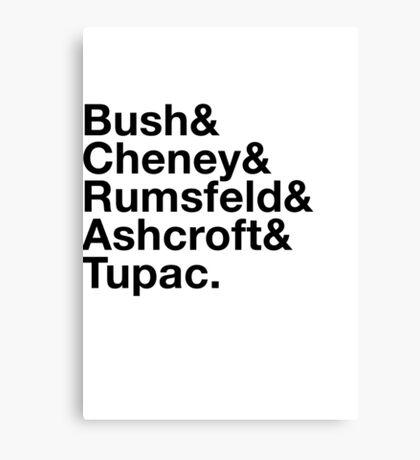 Ironic George Bush Cabinet Canvas Print