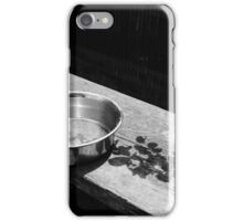 Shadow falling on cat food dish, Chiba Japan iPhone Case/Skin