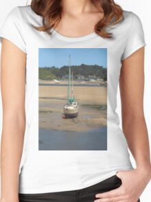 Low Tide At Padstow Women's Fitted Scoop T-Shirt