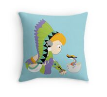 Chibi Qurupeco And Baby Throw Pillow
