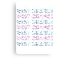 West Orange New Jersey Retro  Canvas Print