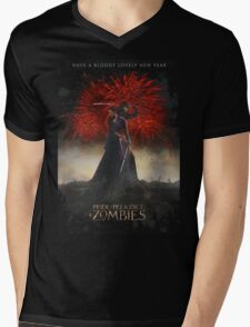 Pride and Prejudice and Zombies Movie - Have A Bloody Lovely New Year Mens V-Neck T-Shirt