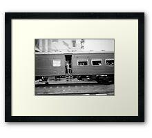 Commuter train, Colombo Sri Lanka Framed Print