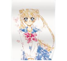 Sailor moon Water Color  Poster