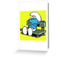 smurf Greeting Card