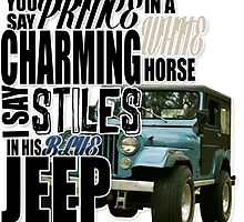 Stiles in a blue Jeep by thescudders