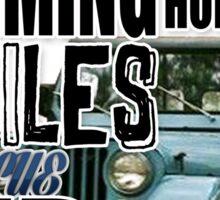 Stiles in a blue Jeep Sticker
