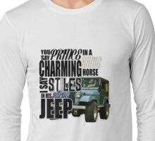 Stiles in a blue Jeep Long Sleeve T-Shirt