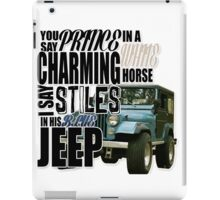Stiles in a blue Jeep iPad Case/Skin