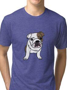 Cute Bulldog Tri-blend T-Shirt