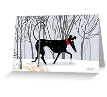 Winter Hound Greeting Card