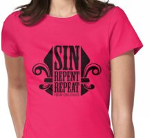 Sin, Repent, Repeat Womens Fitted T-Shirt