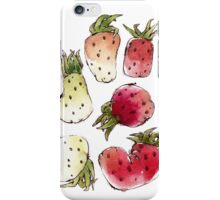Watercolor Strawberries iPhone Case/Skin