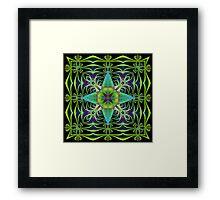 Fractal Art in Green Framed Print