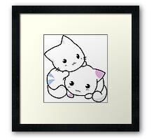Cute anime kittens Framed Print