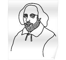 William Shakespere One Line Poster
