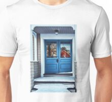 The Blue Doors - Reflections On a Cold Winters Day Unisex T-Shirt