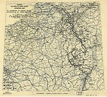 March 18 1945 World War II HQ Twelfth Army Group situation map Photographic Print