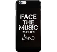 Marianas Trench Face The Music Black iPhone Case/Skin