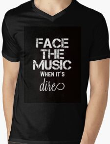 Marianas Trench Face The Music Black Mens V-Neck T-Shirt
